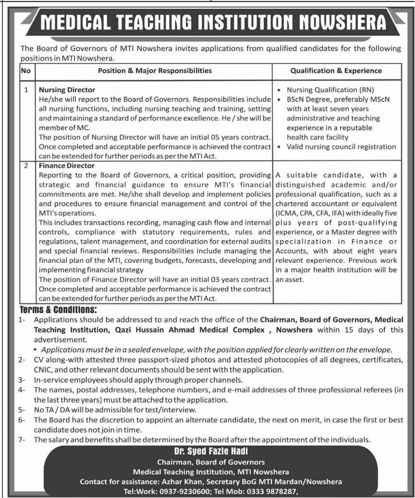 Medical Teaching Institution Latest Jobs 2021