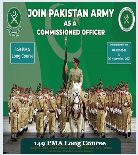 Join Pakarmy 149 PMA Long Course Jobs 2021